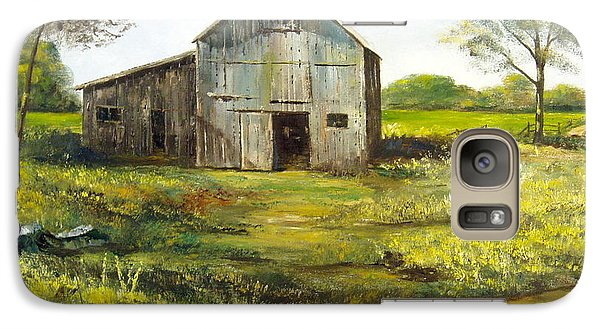 Galaxy Case featuring the painting Old Barn by Lee Piper