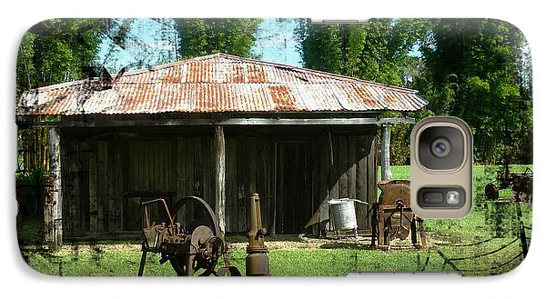 Galaxy Case featuring the photograph Old Barn by Therese Alcorn