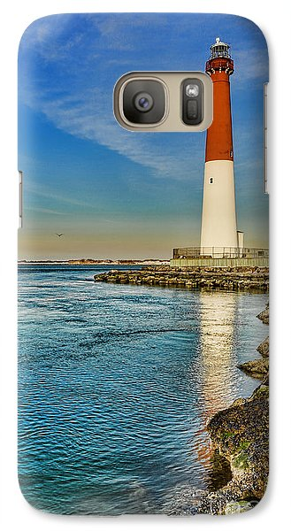 Galaxy Case featuring the photograph Old Barney At Sunrise - Barnegat Lighthouse by Lee Dos Santos