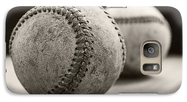 Old Baseballs Galaxy S7 Case by Edward Fielding