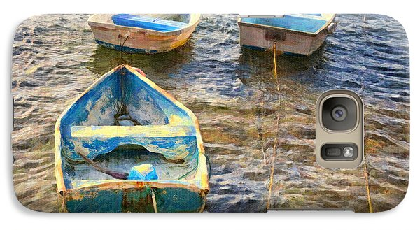 Galaxy Case featuring the photograph Old Bermuda Rowboats by Verena Matthew