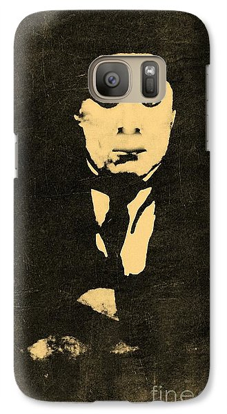 Galaxy Case featuring the photograph Old Black Man by Yury Bashkin