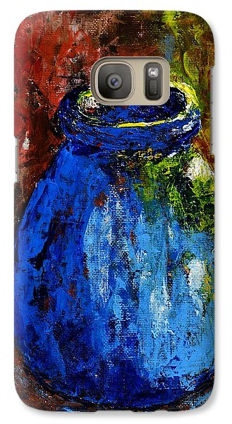 Galaxy Case featuring the painting Old Blue Jar by Melvin Turner