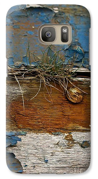 Galaxy Case featuring the photograph Old Boat - Peeling Paint by Liz  Alderdice