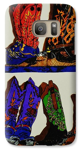 Galaxy Case featuring the drawing Old Boots by Celeste Manning
