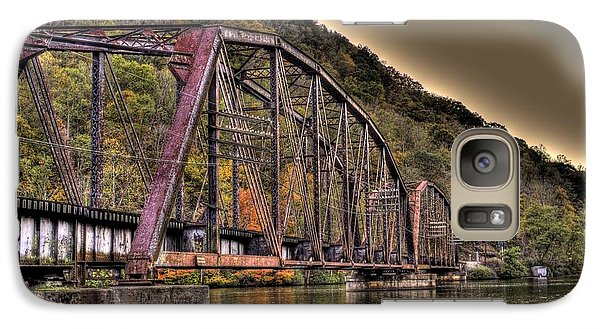 Galaxy S7 Case featuring the photograph Old Bridge Over Lake by Jonny D