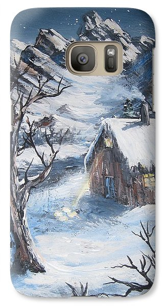 Galaxy Case featuring the painting Old Cabin by Megan Walsh