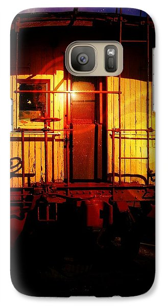 Galaxy Case featuring the digital art Old Caboose  by Aaron Berg
