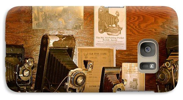 Galaxy Case featuring the photograph Old Cameras by Roseann Errigo
