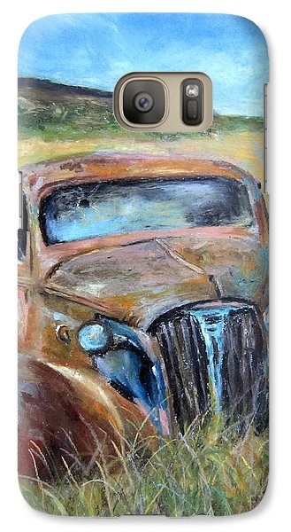 Galaxy Case featuring the painting Old Car by Jieming Wang
