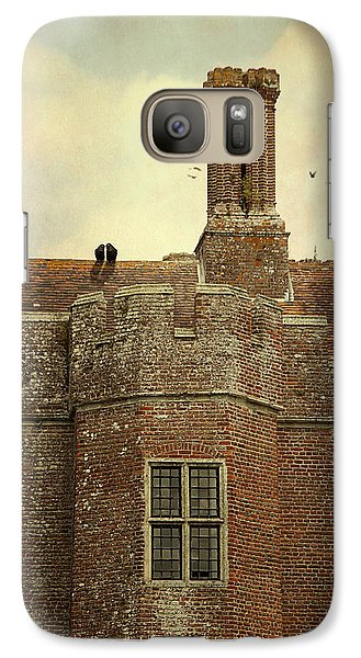 Galaxy Case featuring the photograph Old Castle Rooftop England by Ethiriel  Photography