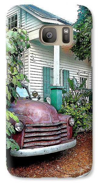 Galaxy Case featuring the photograph Old Chevy by Linda Olsen