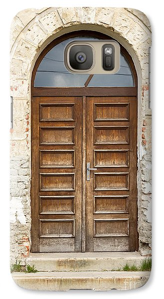 Galaxy Case featuring the photograph Old Church Door by Les Palenik
