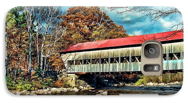 Galaxy Case featuring the photograph Old Covered Bridge by Kenny Francis