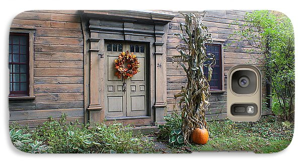 Galaxy Case featuring the photograph Old Deerfield Ma Doorway In Fall by Lois Lepisto