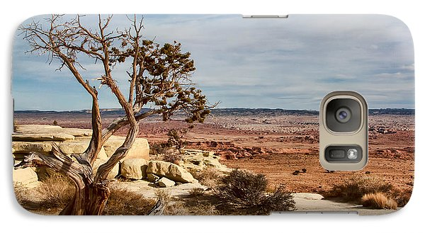 Galaxy Case featuring the photograph Old Desert Cypress Struggles To Survive by Michael Flood