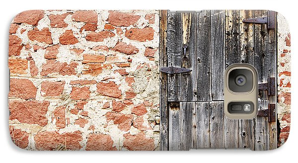 Galaxy Case featuring the photograph Old Door In A Stone Wall by Lincoln Rogers