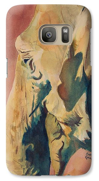 Galaxy Case featuring the painting Old Elephant by Andrew Gillette