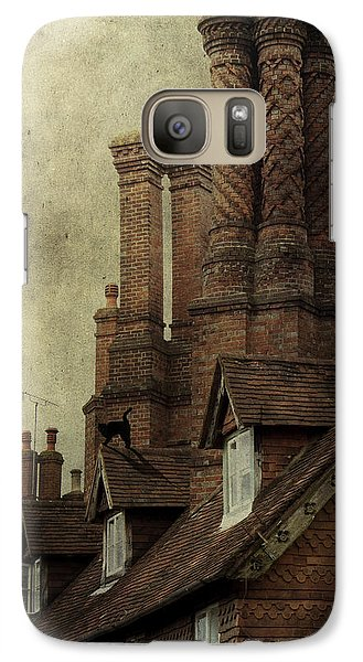 Galaxy Case featuring the photograph Old English House With Cat by Ethiriel  Photography