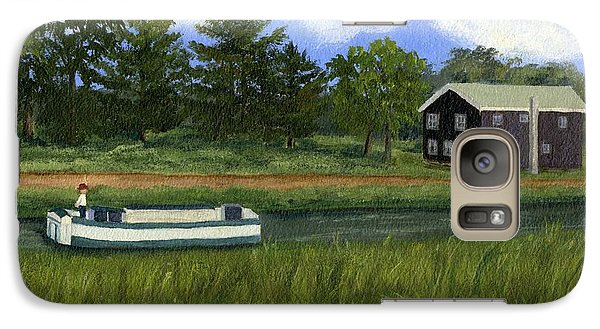 Galaxy Case featuring the painting Old Erie by Lynne Reichhart