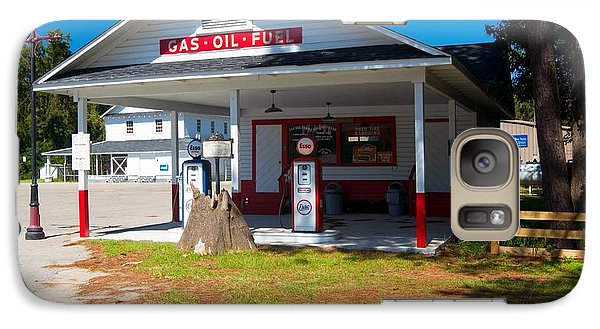 Galaxy Case featuring the photograph Old Esso Station by Bob Pardue
