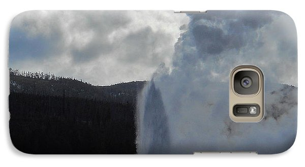 Galaxy Case featuring the photograph Old Faithful Morning by Michele Myers