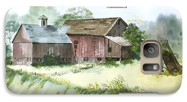 Galaxy Case featuring the painting Old Farm Buildings by Susan Crossman Buscho
