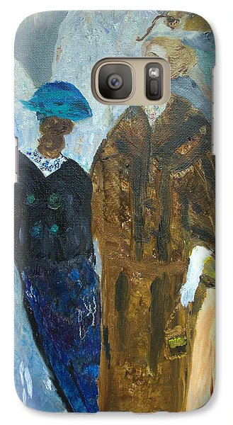 Galaxy Case featuring the painting Old Fashioned Women by Aleezah Selinger