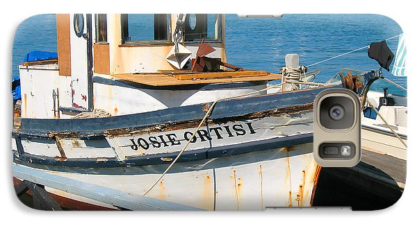 Galaxy Case featuring the photograph Old Fishing Boat In Sausalito by Connie Fox