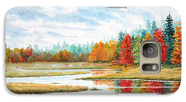 Galaxy Case featuring the painting Old Forge Autumn by Roger Rockefeller