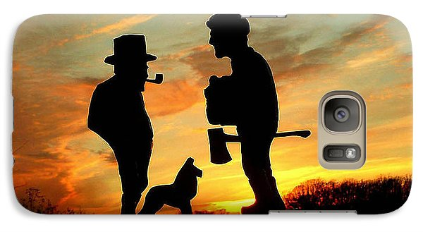 Galaxy Case featuring the photograph Old Friends Converge At Dusk by Larry Trupp