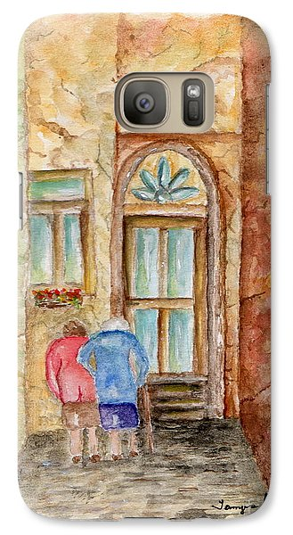 Galaxy Case featuring the painting Old Friends by Tamyra Crossley