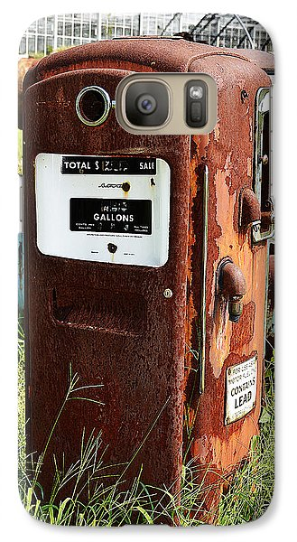 Galaxy Case featuring the photograph Old Gas Pump by Paul Mashburn