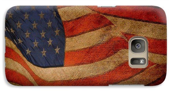 Galaxy Case featuring the digital art Old Glory Combat Flag by Davina Washington
