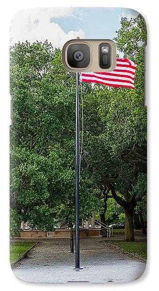 Galaxy Case featuring the photograph Old Glory High And Proud by Sennie Pierson