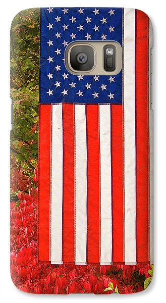 Galaxy Case featuring the photograph Old Glory by Ron Roberts