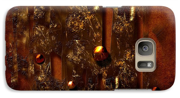 Galaxy Case featuring the digital art Oldgold by Alexa Szlavics
