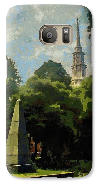 Galaxy Case featuring the painting Old Granery Burying Ground by Jeff Kolker