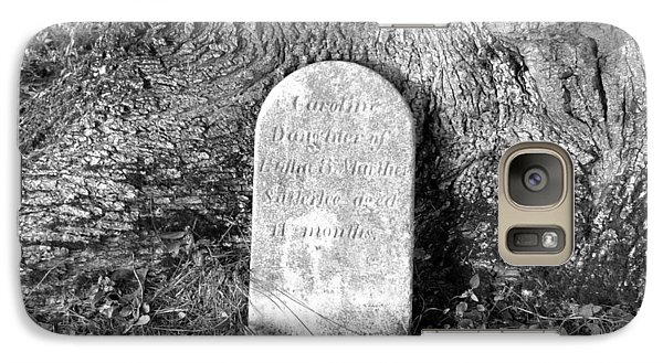 Galaxy Case featuring the photograph Old Gravestone by Karen Molenaar Terrell