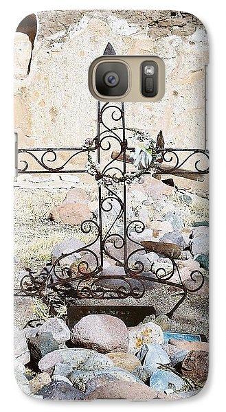 Galaxy Case featuring the photograph Old Gravestone Marker by Kerri Mortenson