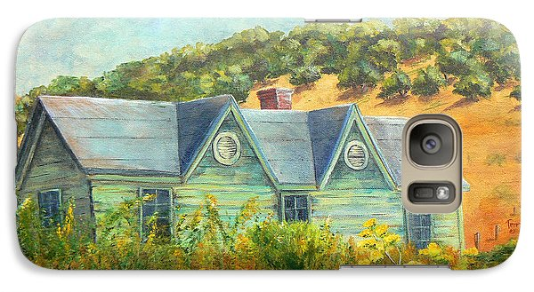Galaxy Case featuring the painting Old Green House On The Hill by Terry Taylor