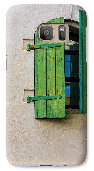 Old Green Shuttered Window Galaxy S7 Case