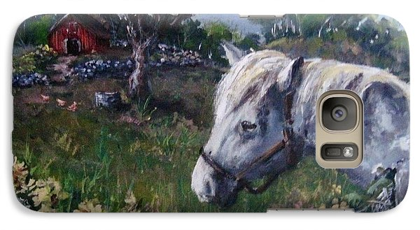 Galaxy Case featuring the painting Old Grey Mare by Megan Walsh