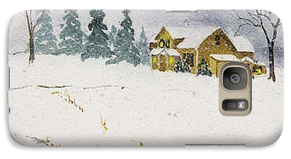 Galaxy Case featuring the painting Old Homestead by Susan Crossman Buscho