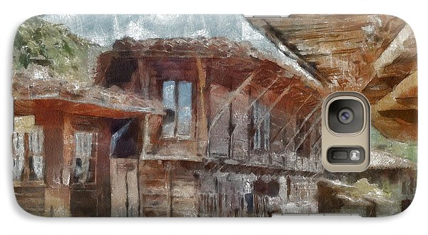 Galaxy Case featuring the painting Old House by Georgi Dimitrov