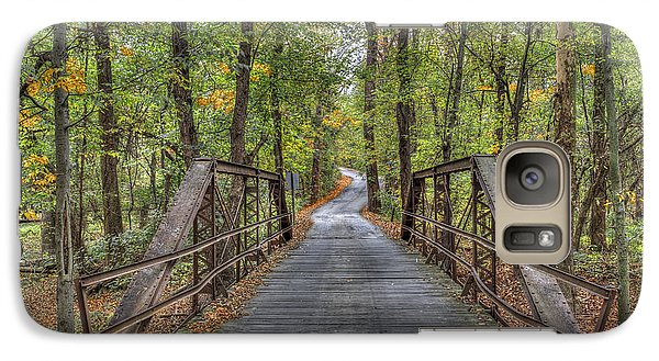 Galaxy Case featuring the photograph Old Iron Bridge At Panther Creek by Wendell Thompson