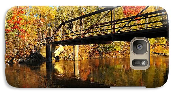 Galaxy Case featuring the photograph Historic Harvey Bridge Over Manistee River In Wexford County Michigan by Terri Gostola