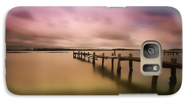 Galaxy Case featuring the photograph Old Jetty 01 by Kevin Chippindall