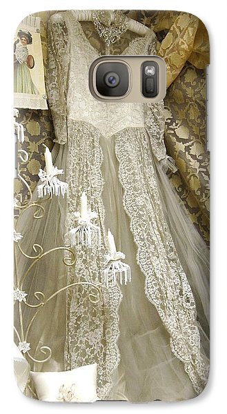 Galaxy Case featuring the photograph Old Lace by Angi Parks