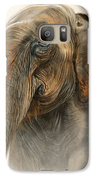Old Lady Of Nepal 2 Galaxy S7 Case by Aaron Blaise
